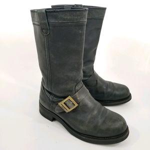 Rare Daffo True Vintage Leather Biker Boots